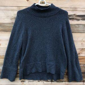 Loft | Gray Cowl Neck Popover Sweater Small